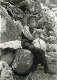 John Muir sitting